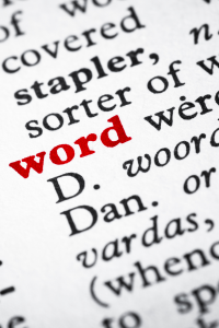 """dictionary entry """"word"""""""
